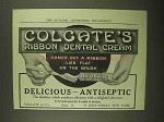 1909 Colgate's Ribbon Dental Cream Ad