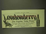 1909 Londonderry Lithia Spring Water Ad - Popular