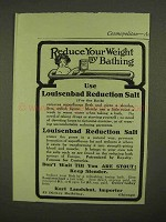 1909 Karl Landshut Louisenbad Reduction Salt Ad