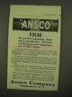 1909 Ansco Film Ad - For Perfect Negatives