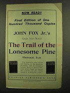 1908 Trail of the Lonesome Pine Novel Ad - John Fox Jr.