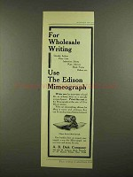 1908 Edison Rotary Mimeograph Ad - Wholesale Writing