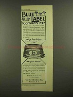 1908 Curtice Brothers Blue Label Boned Chicken Ad