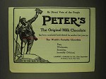 1908 Peter's Milk Chocolate Ad - Direct Vote of People