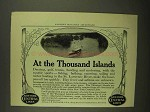 1908 New York Central Lines Ad - At Thousand Islands