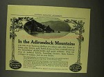 1908 New York Central Lines Ad - Adirondack Mountains