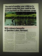 1972 Quechee Lakes Vermont Ad - This Summer Camp