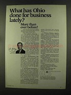 1972 Ohio Department of Development Ad - Gov. Gilligan