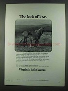1972 Virginia Tourism Ad - The Look of Love