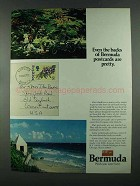 1972 Bermuda Tourism Ad - Even Backs Are Pretty