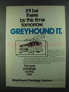 1972 Greyhound Package Express Ad - It'll Be There