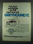 1972 Greyhound Package Express Ad - On The Next Bus