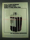 1972 Greyhound Corporation Ad - Once, a Pint of Blood
