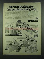 1972 Fruehauf Trailers Ad - Carried Us a Long Way