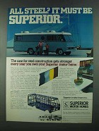 1972 Superior Motor Home Ad - All Steel? It Must Be