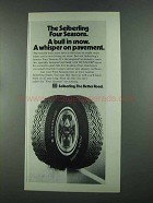 1972 Seiberling Four Seasons Tire Ad - Bull in Snow