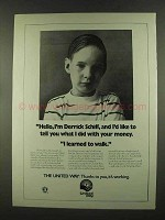 1972 The United Way Ad - I Learned to Walk