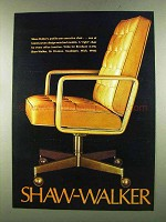1972 Shaw-Walker Profile-Arm Executive Chair Ad