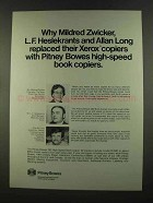 1972 Pitney-Bowes 262 High Speed Book Copier Ad