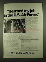 1972 U.S. Air Force Ad - I Learned My Job In