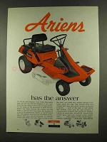 1972 Ariens Emperor II Riding Mower Ad - The Answer
