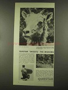 1972 Questar Field Model Telescope Ad - Shoots Bighorn
