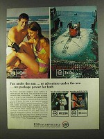 1972 ESB RayoVac Transistor, Exide SeaSpace Battery Ad