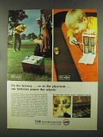 1972 ESB Rayovac and Exide Batteries Ad - on Fairway