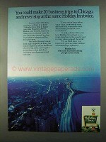 1972 Holiday Inn Ad - 20 Business Trips to Chicago