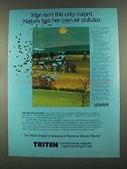 1972 Marion Laboratories Triten Ad - Nature Polluter