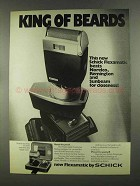 1972 Schick Flexamatic Shaver Ad - King of Beards