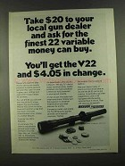 1972 Weaver V22 Scope Ad - Finest Money Can Buy