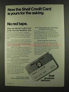 1972 Shell Credit Card Ad - Is Yours for the Asking