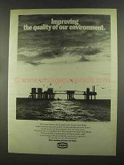 1972 Texaco Oil Ad - Improving Quality of Environment