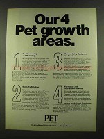 1972 Pet Incorporated Ad - Our 4 Growth Areas