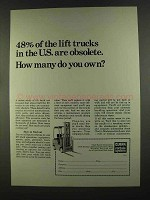 1972 Clark Rental System Ad - 48% of the Lift Trucks