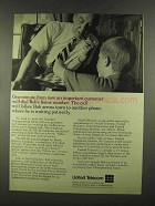 1972 United Telecom Ad - An Important Customer