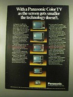 1972 Panasonic Color TV Ad - Screen Gets Smaller