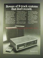 1972 Panasonic RS-818S 8-Track System Ad - Beware