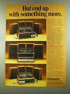 1972 Panasonic SE-4080 SE-2050 Entertainment Center Ad