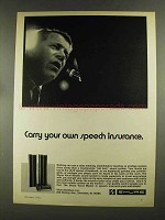 1972 Shure Vocal Master Sound System Ad - Speech