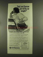1972 Hitachi TRQ 206 Car Stereo Ad - Borrow Part of Car