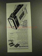 1972 Hitachi Tape Recorder Ad - TRQ-30 TRK-1100 TRQ-288