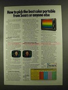1972 Sears Model 41881 TV Ad - Best Color Portable