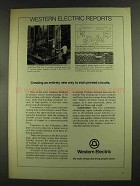 1972 Western Electric Ad - Etch Printed Circuits