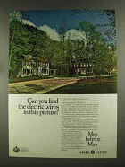 1972 General Electric Ad - Find the Electric Wires