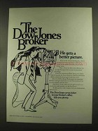 1972 The Dow Jones Ad - He Gets a Better Picture