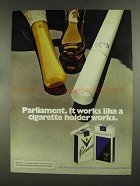 1972 Parliament Cigarettes Ad - Works Like Holder
