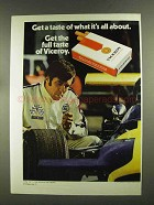 1972 Viceroy Cigarettes Advertisement - Race Car Driver