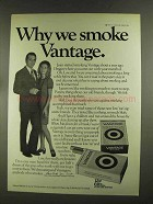 1972 Vantage Cigarettes Ad - Why We Smoke